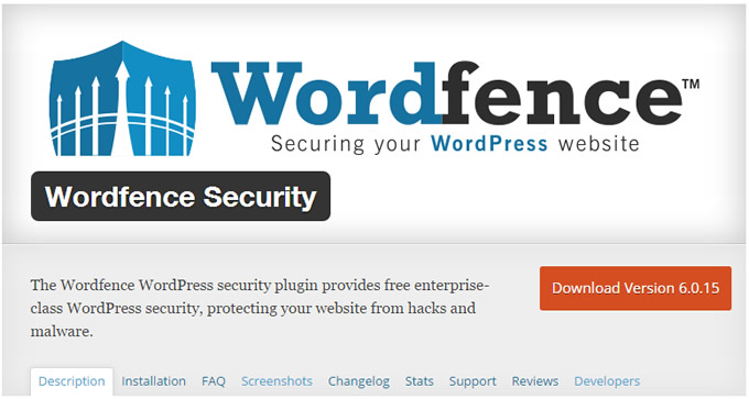 Seguridad Wordpress - Wordfence